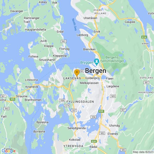 Google Map of 60.3827368,5.271934499999999