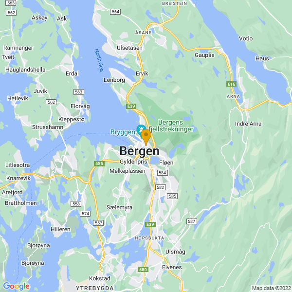 Google Map of 60.39198684220223,5.330932543124507