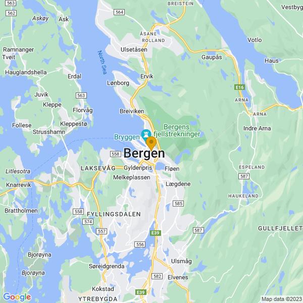 Google Map of 60.39213295294926,5.3315162038074515