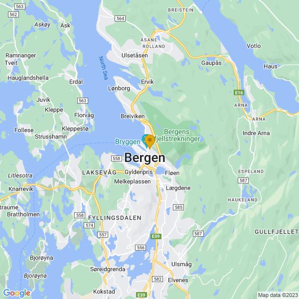 Google Map of 60.39641979999999,5.3285645