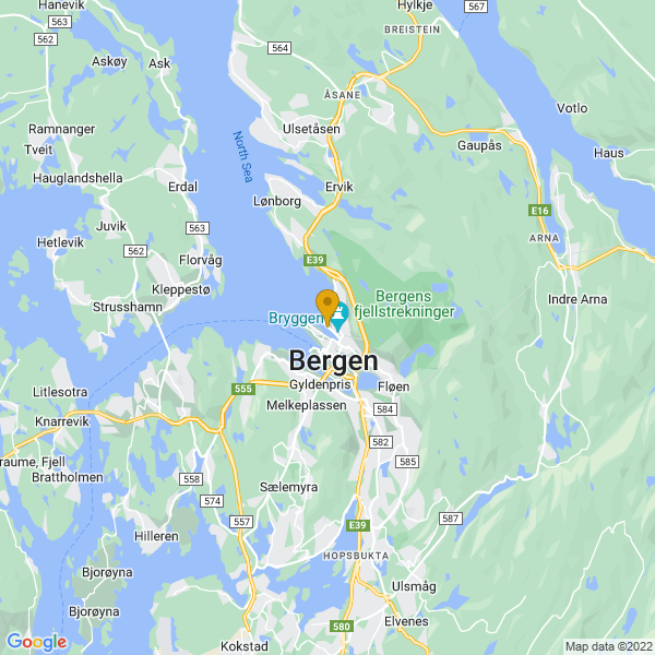 Google Map of 60.39890571958018,5.317891611608885