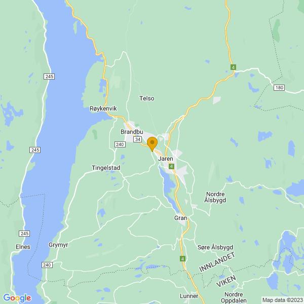 Google Map of 60.4032679,10.5340645