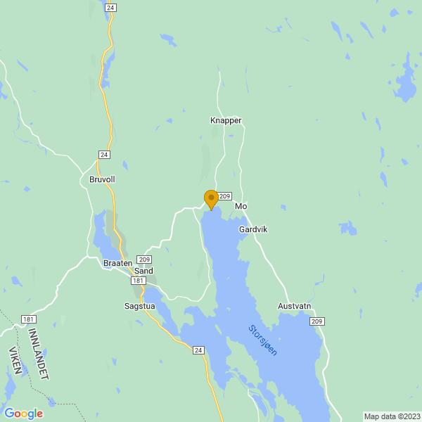 Google Map of 60.4252036,11.6079775