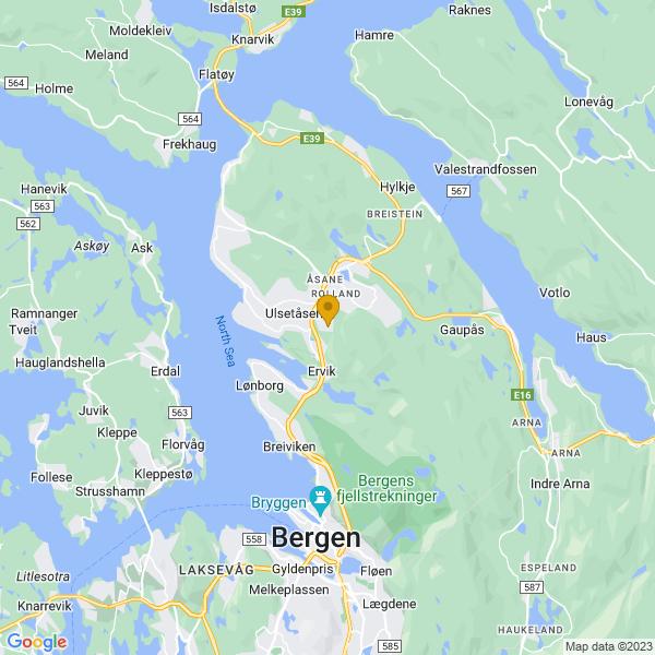 Google Map of 60.45620159999999,5.329210600000001