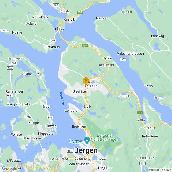 Google Map of 60.4669444,5.3219444