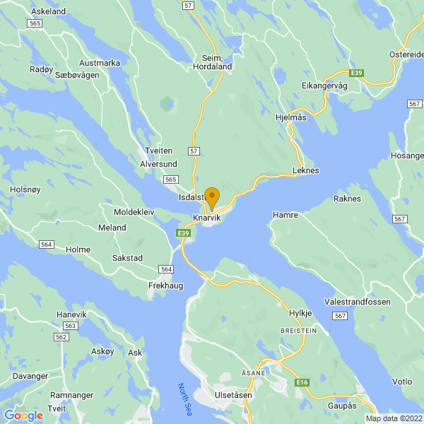 Google Map of 60.5483281,5.287492299999999