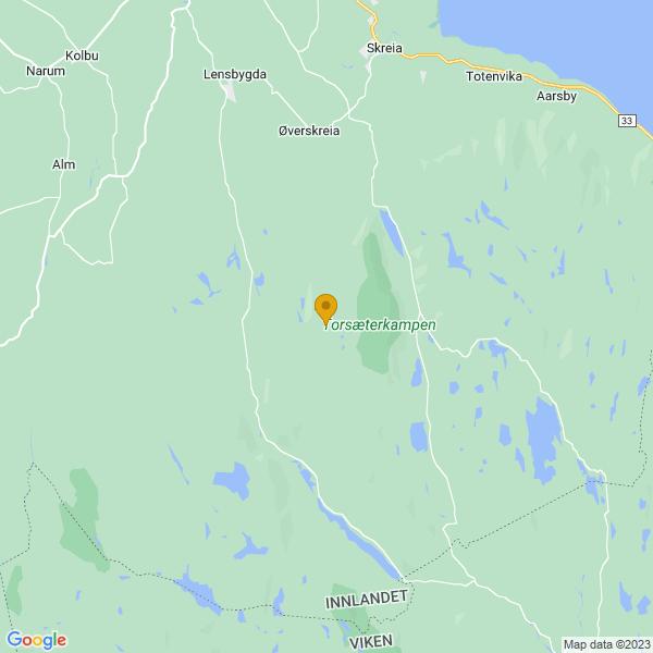 Google Map of 60.5665221,10.8988489
