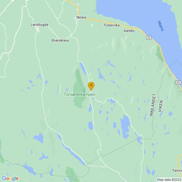 Google Map of 60.5708376,10.9585126