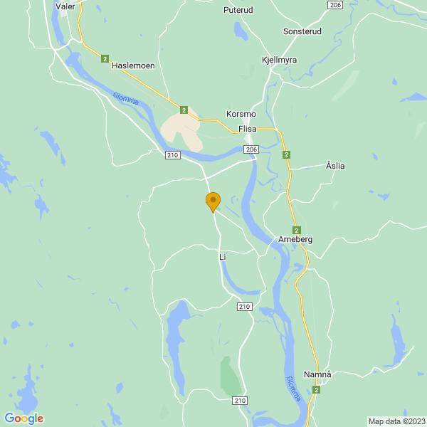 Google Map of 60.5730963,11.9777554