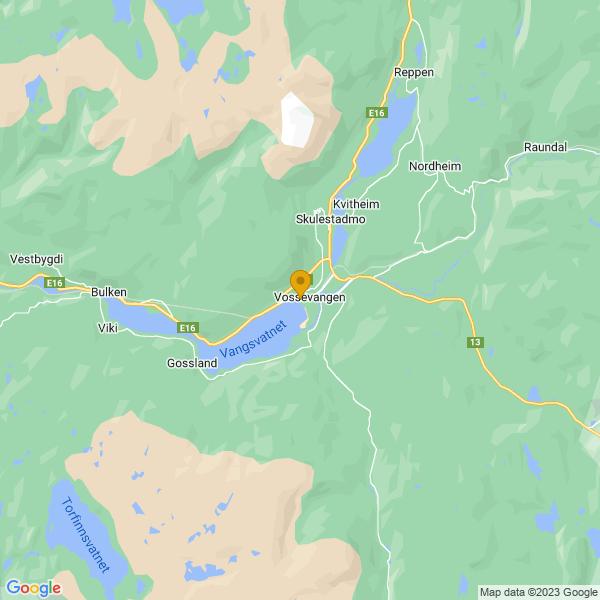 Google Map of 60.62828759656931,6.415648374639118