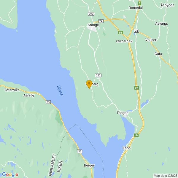 Google Map of 60.64485380000001,11.1836457