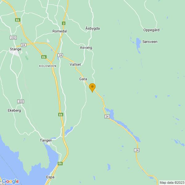 Google Map of 60.6701096,11.364584000000036
