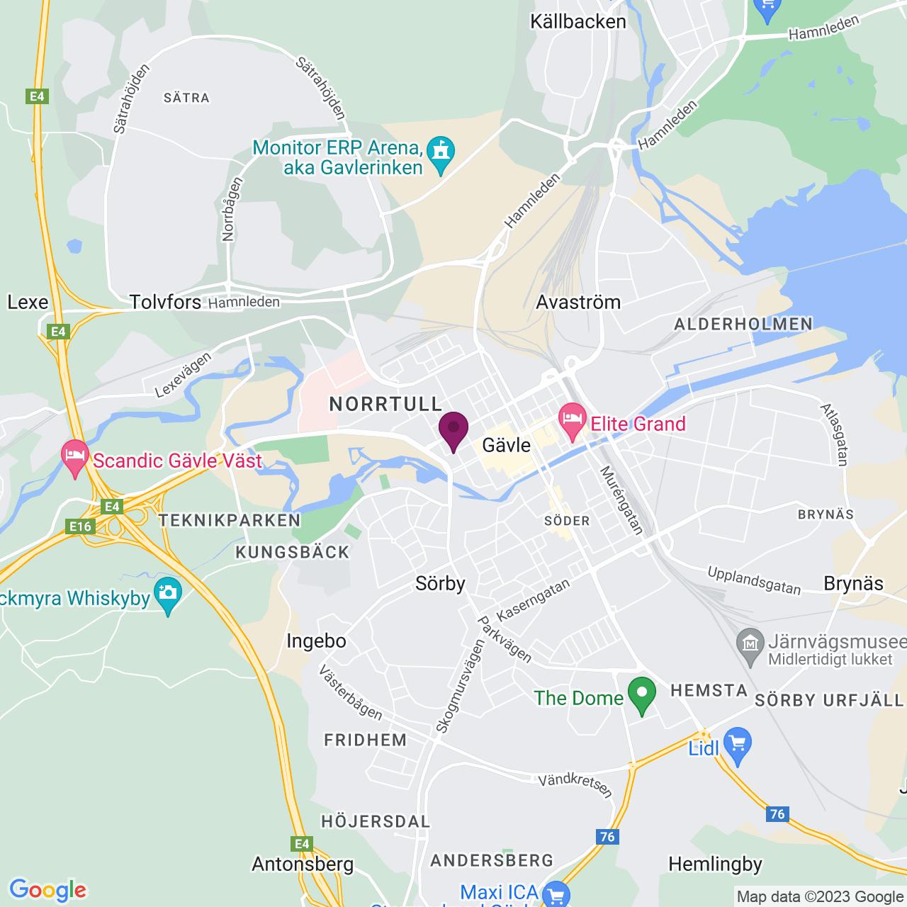 Kort över Ruddammsgatan 2