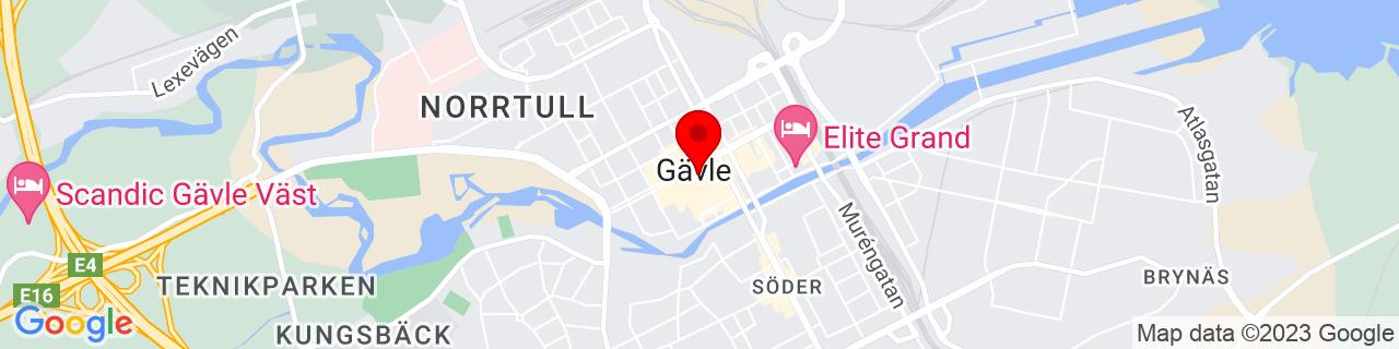 Google Map of 60.674670918108895, 17.141718864440918