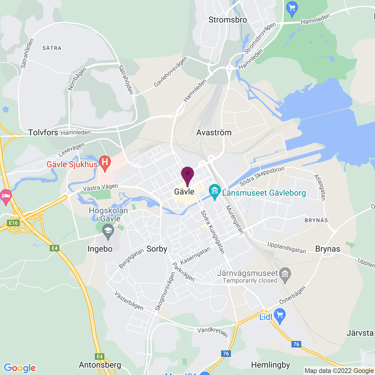 Map of Nygatan 25