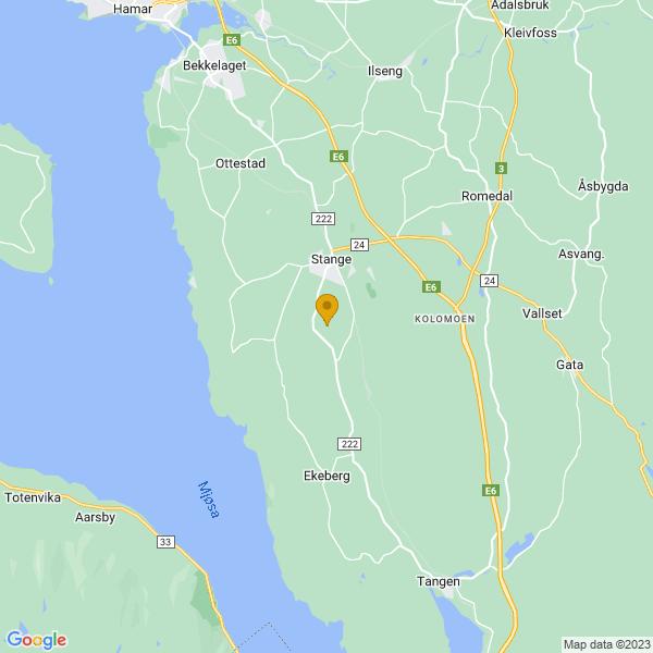 Google Map of 60.6965643,11.190543