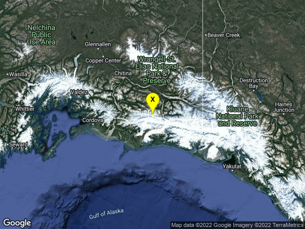 earthquake 86km NNW of Cape Yakataga, Alaska