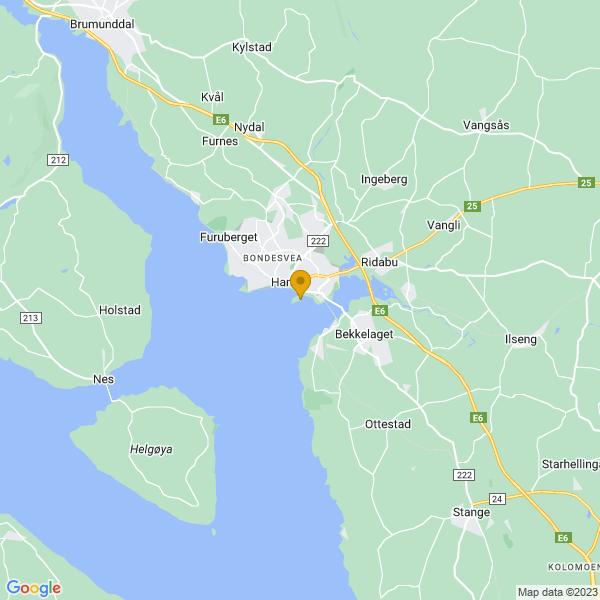 Google Map of 60.7887188,11.0757513