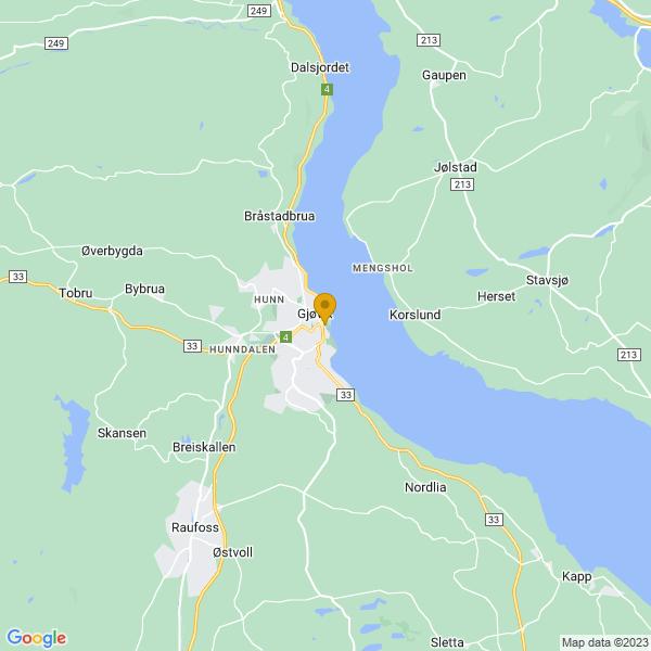 Google Map of 60.7917629,10.698427