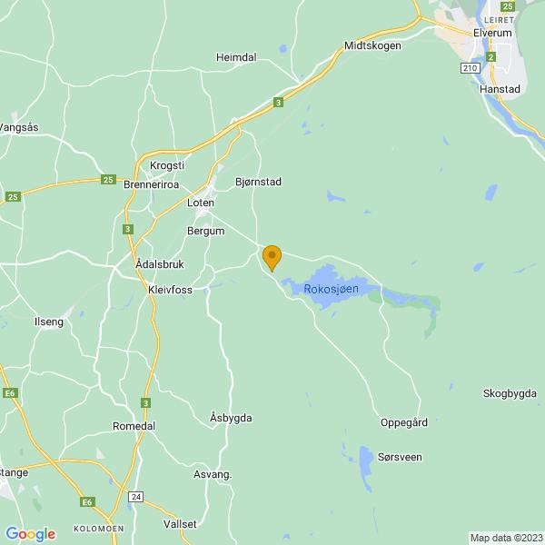 Google Map of 60.7936874,11.39597