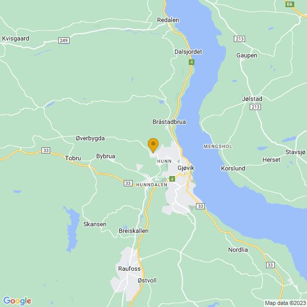Google Map of 60.80481409999999,10.6483322