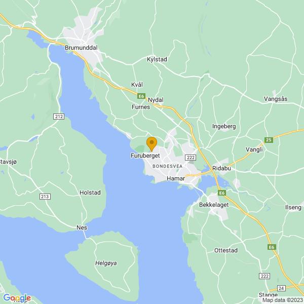 Google Map of 60.8121573,11.035559