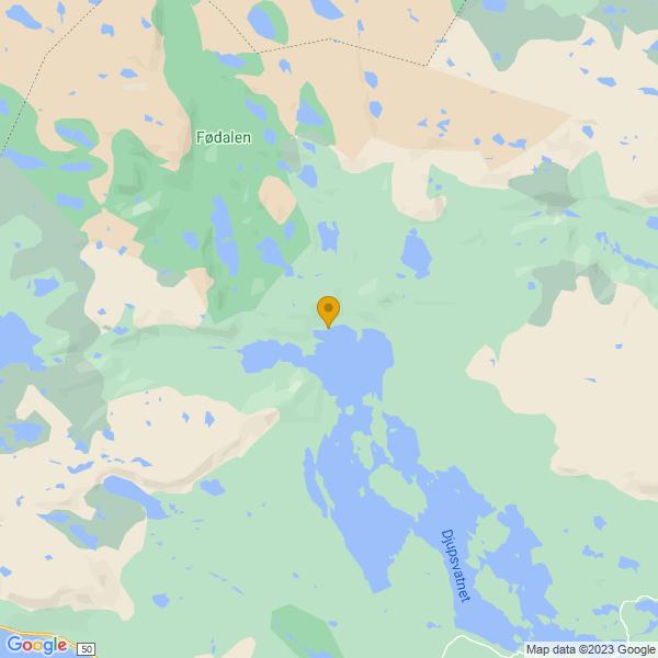 Google Map of 60.81328217645456,7.9799548483237