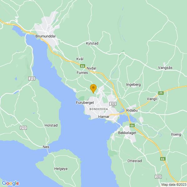Google Map of 60.81952292805148,11.0451059174832