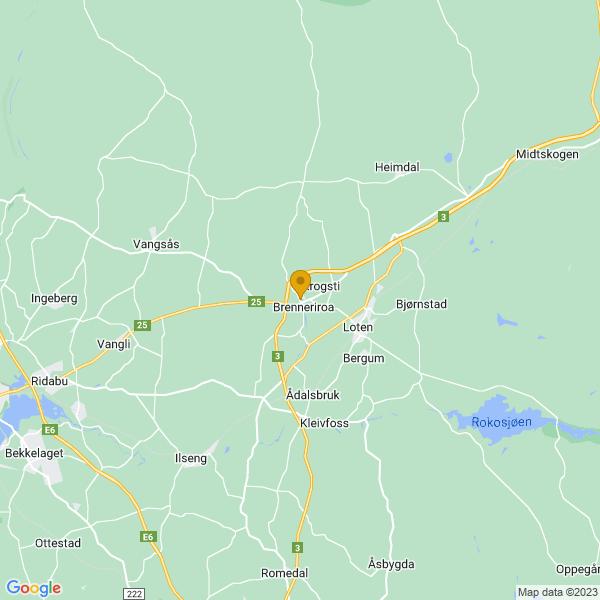 Google Map of 60.82856763498649,11.302313689410388