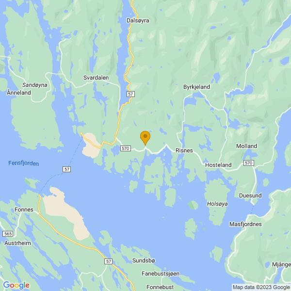 Google Map of 60.84870129999999,5.1552631