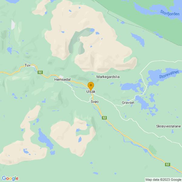 Google Map of 60.85017750223706,8.616507779611728