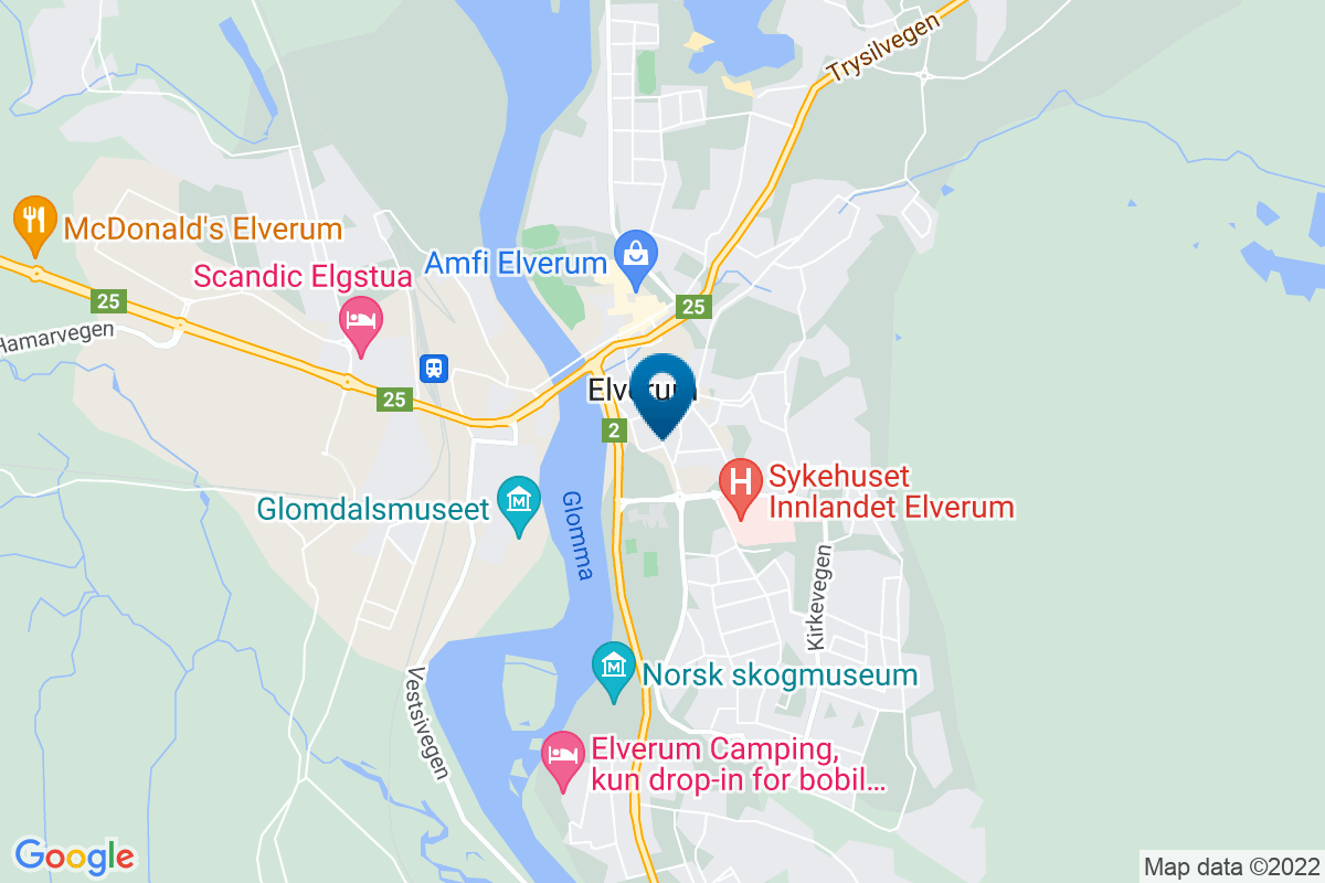 Google Map of 60.88008939999999,11.563946399999963