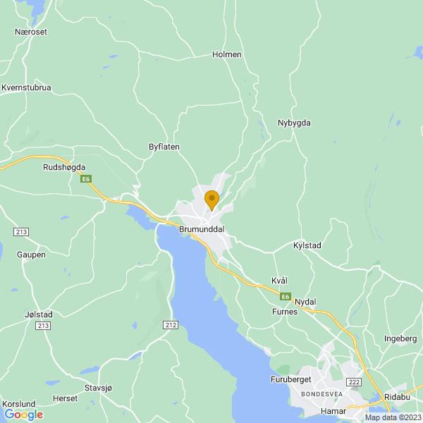 Google Map of 60.88920839999999,10.949275