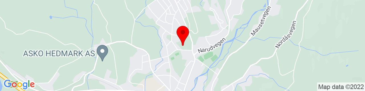Google Map of 60.89393190435803, 10.9403657913208