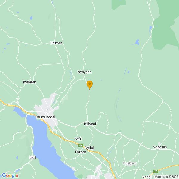 Google Map of 60.91166149999999,11.0414998
