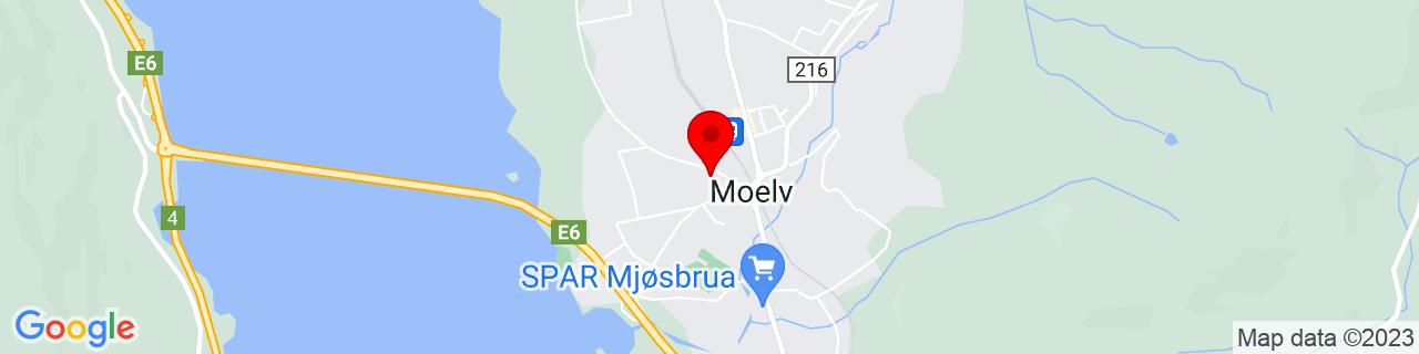 Google Map of 60.92828444347857, 10.697325468063354