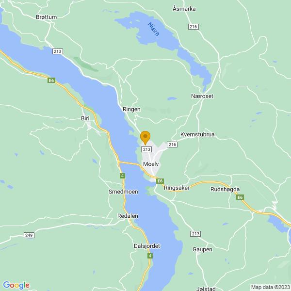 Google Map of 60.940573,10.6928124