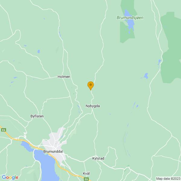 Google Map of 60.94858659999999,11.0247856