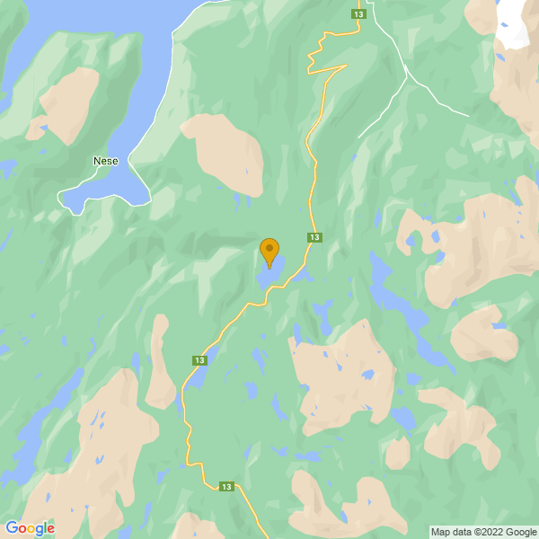 Google Map of 60.98216639999999,6.509038899999999