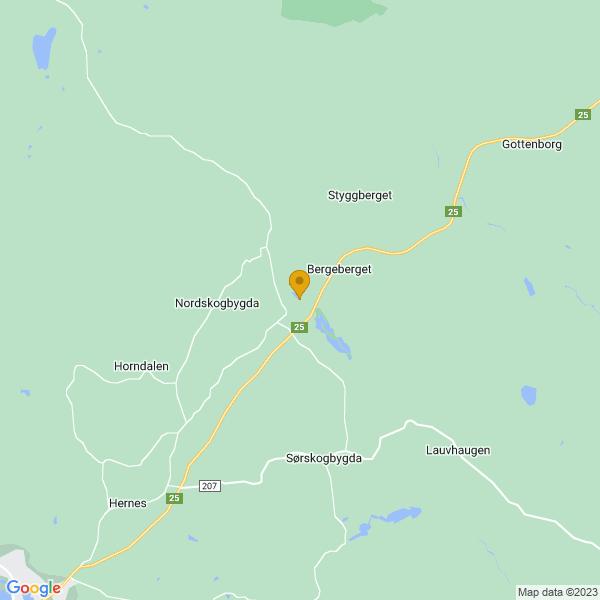Google Map of 60.9947847,11.7566194