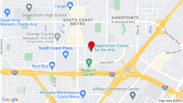 Google Map of 600 Town Center Dr, Costa Mesa, CA 92626