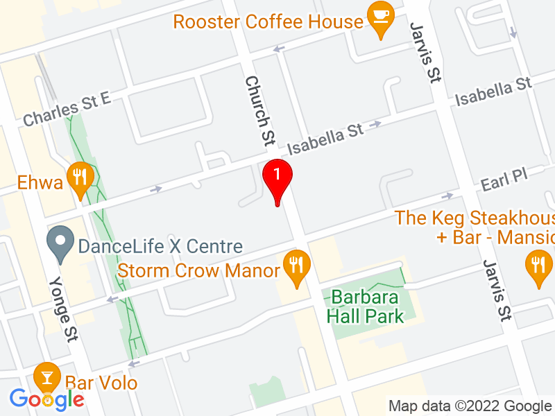 Google Map of 600 Church St, Toronto, ON