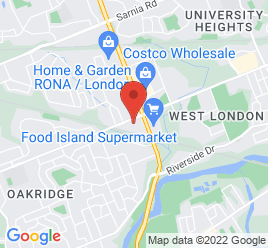 Google Map of 600+Oxford+Street+West%2CLondon%2COntario+N6H+1T9