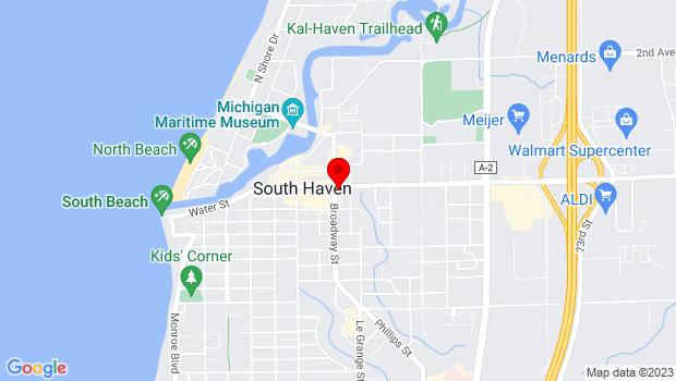 Google Map of 600 Phoenix Street, South Haven, MI 49090