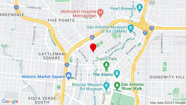 Google Map of 600 Soledad St., San Antonio, TX 78205