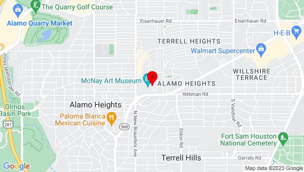 Google Map of 6000 N. New Braunfels, San Antonio, TX 78209