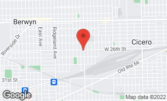 Map of 6001-09 West 26th Street Cicero, IL 60804