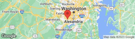 Map of 6004 MERIWETHER LANE SPRINGFIELD, VA 22150