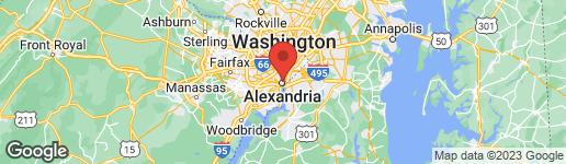 Map of 601 FAIRFAX STREET N #605 ALEXANDRIA, VA 22314