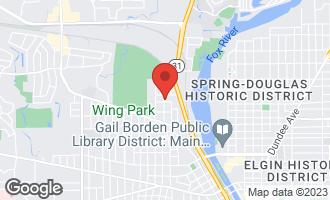 Map of 601 Mcclure Avenue ELGIN, IL 60123